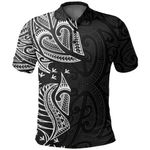 New Zealand Maori Polo Shirt, Ta Moko Tattoo Golf Shirt - White K5 - 1st New Zealand