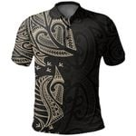New Zealand Maori Polo Shirt, Ta Moko Tattoo Golf Shirt - Tan K5 - 1st New Zealand