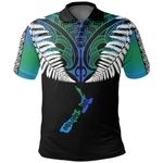 New Zealand Maori Polo Shirt, Silver Fern Poutama Golf Shirts K5 - 1st New Zealand
