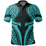 New Zealand Polo T-Shirt, Full Torso Aqua K4 - 1st New Zealand