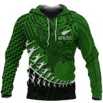 New Zealand Silver Fern Hoodie, Maori Manaia Rugby Player Pullover Hoodie K4 - 1st New Zealand
