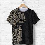 New Zealand Maori T Shirt, Ta Moko Tattoo Shirt - Tan K5 - 1st New Zealand