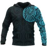 New Zealand Maori Hoodie, Maori Warrior Tattoo Pullover Hoodie - Blue A75 - 1st New Zealand