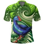 New Zealand Polo Shirt, Pukeko Koru Golf Shirt K4 - 1st New Zealand