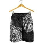 New Zealand Shorts, Maori Wolf Dragon Tattoo Men's All Over Print Board Shorts K4 - 1st New Zealand