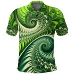New Zealand Polo Shirt, Koru Fern Golf Shirt - Abstract Style K4 - 1st New Zealand