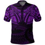 New Zealand Polo Shirt, Maori Tattoo Wolf Dragon Golf Shirt - Purple K4 - 1st New Zealand