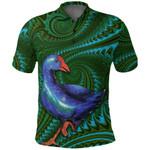 New Zealand Polo Shirt, Pukeko Koru Golf Shirt 02 K4 - 1st New Zealand