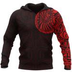 New Zealand Maori Hoodie, Maori Warrior Tattoo Pullover Hoodie - Red A75 - 1st New Zealand