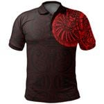 New Zealand Maori Polo Shirt, Maori Warrior Tattoo Golf Shirts Red A75 - 1st New Zealand