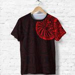 New Zealand Maori T Shirt, Maori Warrior Tattoo Shirt - Red A75 - 1st New Zealand