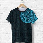 New Zealand Maori T Shirt, Maori Warrior Tattoo Shirt - Blue A75 - 1st New Zealand