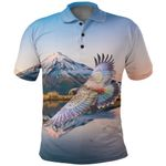New Zealand Parrot Polo Shirt Kea Bird K4 - 1st New Zealand