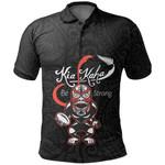 Rugby Kia Kaha Be Strong Polo Shirt Black K4 - 1st New Zealand