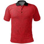 New Zealand Maori Polo Shirt, Maori Mask Tattoo Golf Shirts K5 - 1st New Zealand