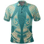 New Zealand Maori Polo Shirt, Hei Matau Tattoo Golf Shirts K5 - 1st New Zealand