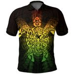 New Zealand Maori Polo Shirt, Wairua Tattoo Turtle Golf Shirts - Rasta K4 - 1st New Zealand