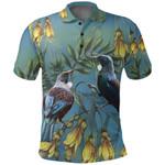 Tui Bird New Zealand Polo Shirt, Kowhai Golf Shirts K5 - 1st New Zealand