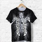 New Zealand Maori Shirt, Wairua Tattoo Turtle T Shirt - White K4 - 1st New Zealand