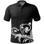 New Zealand Silver Fern Polo Shirt, Koru Fern Golf Shirts, Black L15 - 1st New Zealand