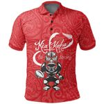 Rugby Kia Kaha Be Strong Polo Shirt Red K4 - 1st New Zealand