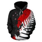 New Zealand Maori Hoodie, Silver Fern Flag Pullover Hoodie A05 - 1st New Zealand