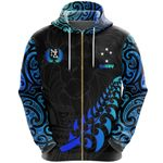 New Zealand Maori Rugby Lion Zip Hoodie K5 - 1st New Zealand