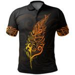 New Zealand Polo Shirt, Light Silver Fern Golf Shirts - Sunrise Vibe K5 - 1st New Zealand