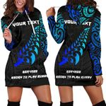New Zealand Maori Rugby Lion Hoodie Dress - Customized K5 - 1st New Zealand