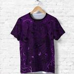 New Zealand Shirt, Maori Gods T Shirt, Tumatauenga (God of War) - Purple K4 - 1st New Zealand