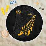New Zealand Maori Lion Rugby Beach Blanket K5 - 1st New Zealand