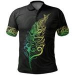 New Zealand Polo Shirt, Light Silver Fern Golf Shirts - Green K5 - 1st New Zealand