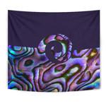 Purple Paua Shell Koru New Zealand Tapestry K5 - 1st New Zealand