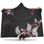 New Zealand Pohutukawa Silver Fern Hooded Blanket K5 - 1st New Zealand