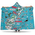 New Zealand Map Symbols Hooded Blanket K5 - 1st New Zealand
