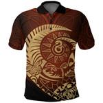 New Zealand Polo Shirt Maori Warrior Tattoo Tangaroa K4 - 1st New Zealand