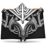 New Zealand Maori Koru Tattoo Hooded Blanket K4 - 1st New Zealand