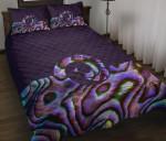 New Zealand Quilt Bed Set, Koru Paua Shell Quilt And Pillow Cover K5 - 1st New Zealand