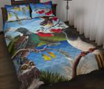 New Zealand Native Birds Quilt Bed Set K5 - 1st New Zealand