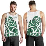 New Zealand Tank Tops, Maori Manaia Silver Fern Sleeveless Shirts K4 - 1st New Zealand