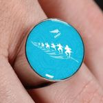 Rugby Haka Ring Blue K4 - 1st New Zealand