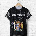 New Zealand Shirt, Coat Of Arm NZ Map T-Shirt K5 - 1st New Zealand