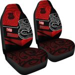 New Zealand Maori Koruru Tiki Car Seat Covers Th00 - 1st New Zealand