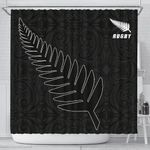 Silver Fern Rugby Shower Curtain K40 - 1st New Zealand