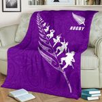 Rugby New Zealand Premium Blanket Violet K4 - 1st New Zealand