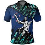 New Zealand Polo Shirt Cricket Paua Shell K4 - 1st New Zealand