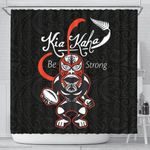 Rugby Kia Kaha Be Strong Shower Curtain Black K40 - 1st New Zealand