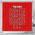 Rugby Haka Dance Shower Curtain Red K40 - 1st New Zealand