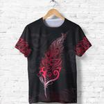 New Zealand Shirt, Maori Light Silver Fern T Shirt K5 - 1st New Zealand