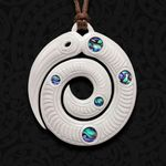Taniwha Bone Carving Necklace - 1st New Zealand